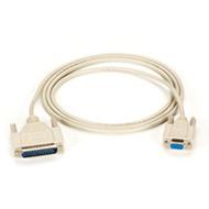 Black Box AT Serial Printer Cable, DB25 Male/DB9 Female, 6-ft. (1.8-m) BC08000-0006-MF