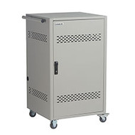Black Box 36-Device iPad, Chromebook, Tablet, and Laptop Cart - Steel Top, Fixed LCC36H-AC-WP