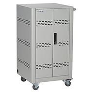 Black Box Basic Charging Cart - 36-Device, Steel Top, Fixed Shelves, Hinged Door VLC36SK-HD