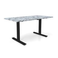 "Height Adjustable 30""x 60"" Ergonomic Business Desk - Ivory Biscayne"