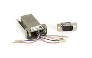 Black Box DB9 Colored Modular Adapter (Unassembled), Male to RJ-45, 10-Wire, Gra FA1013