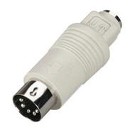 Black Box Mini DIN Adapter, 6-Pin Mini DIN Female to 5-Pin DIN Male FA212-R2