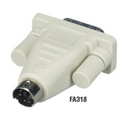 Black Box PC Video Adapters, 6-Pin Mini DIN Female to DB9 Female FA319