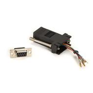 Black Box DB9 Modular Adapter Kit (Unassembled), Female to RJ-45, 8-Wire, Black FA4509F-BK