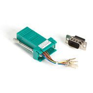 Black Box DB9 Colored Modular Adapter (Unassembled), Male to RJ-45, 8-Wire, Gree FA4509M-GR