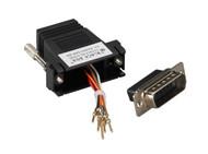 Black Box DB15 Modular Adapter Kits (Unassembled), Male to RJ-45 8-Wire FA4515M-BK