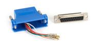 Black Box DB25 Modular Adapter Kit (Unassembled), Female to RJ-45, 8-Wire, Blue FA4525F-BL