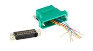 Black Box DB25 Modular Adapter Kit (Unassembled), Male to RJ-45, 8-Wire, Green FA4525M-GR