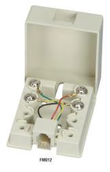 Black Box Wallmount Blocks, (1) RJ-11, 4-Wire FM012