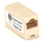 Black Box Inline Coupler, Female/Female, 8-Wire, Cross-Pinned FM016