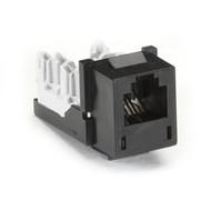 Black Box USOC RJ-11, 6-Wire Jack, Black FM239