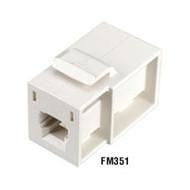 Black Box GigaStation MT-RJ Flush Adapter (Female/Female) Snap Fitting, Office W FM351