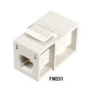 Black Box GigaStation MT-RJ Flush Adapter (Female/Female) Snap Fitting, Yellow FM353