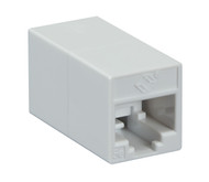 Black Box CAT5e Coupler, Straight-Pinned, Unshielded, White, Single-Pack FM506-R2