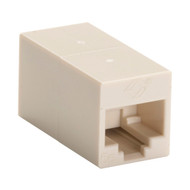 Black Box CAT5e Coupler, Cross-Pinned, Unshielded, Beige, 10-Pack FM567-R2-10PAK