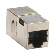 Black Box CAT5e Coupler, Cross-Pinned, Shielded, Silver, Single-Pack FM568-R2