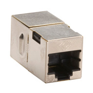 Black Box CAT5e Coupler, Cross-Pinned, Shielded, Silver, 10-Pack FM568-R2-10PAK