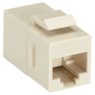 Black Box CAT5e Keystone Coupler, Straight-Pinned, Unshielded, Beige, 10-Pack FM591-10PAK
