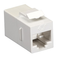 Black Box CAT5e Keystone Coupler, Cross-Pinned, Unshielded, White, Single-Pack FM596
