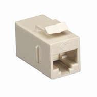 Black Box CAT5e Keystone Coupler, Cross-Pinned, Unshielded, Beige, 10-Pack FM597-10PAK