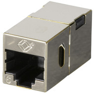 Black Box CAT6 Straight-Through Coupler, Shielded, Metal, 10-Pack FM608-10PAK