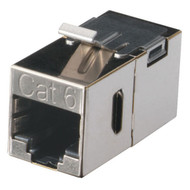 Black Box CAT6 Keystone Feed-Through Straight-Pinned Coupler, Metal FM693