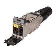 Black Box Category 7 S/FTP Outlet Jack, 4-Port FMC700