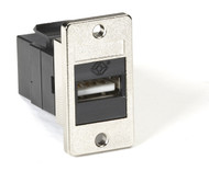 Black Box Panel-Mount USB Coupler, Type A-Type B, Black FMT1050