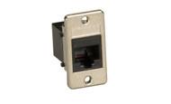 Black Box Panel-Mount Modular Coupler, RJ-11, 4-Wire, Black FMT1080