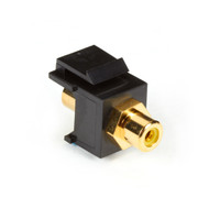 Black Box RCA Connector, Passthrough, Female/Female, Yellow FMT400