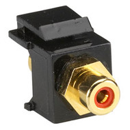 Black Box RCA Connector, Passthrough, Female/Female, Red FMT420