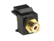 Black Box RCA Connector, Passthrough, Female/Female, White FMT440