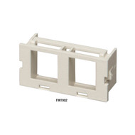 Black Box GigaStation2 Surface-Mount Housing Insert, 2-Port FMT902