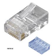 Black Box CAT6 Modular Plugs - RJ-45, 100-Pack FMTP6-R2-100PAK