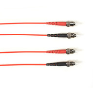 Black Box Multicolored Fiber Optic Patch Cable - Duplex Single-Mode, 9-Micron OS FOLZHSM-030M-STST-RD