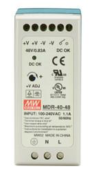 Black Box DIN Rail Power Supply, 40 Watts, 48 VDC MDR-40-48