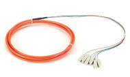 Black Box OM1 62.5-Micron Multimode Fiber Optic Pigtail, 6-Strand, SC, Orange, 3 FOPT50M1-SC-6OR-3