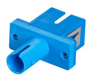 Black Box Fiber Optic Adapter, ST-SC, Single-Mode, Simplex, Rectangular Mounting FOT113