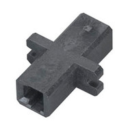 Black Box Fiber Optic Coupling, MT-RJ-MT-RJ, Rectangular Mounting with Cap, Mult FOT121