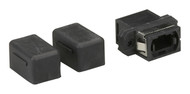 Black Box MTP-MTP Bulkhead Adapter with Cap, Panel-Mount, Plastic FOT129