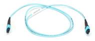 Black Box OM3 Fiber Optic Trunk Cable, MTP(R) MPO-Style, 12-Fiber, Plenum, Flip- FOTC30M3-MP-12AQ-1