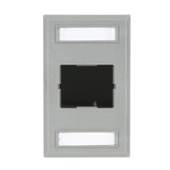 Black Box Plastic Coupler Faceplate, Single-Gang, 1-Slot, Gray FT192GR