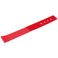 """Black Box Hook and Loop Lite Cable Wraps, 1"""" x 6"""", 10-Pack, Red FT9381"""