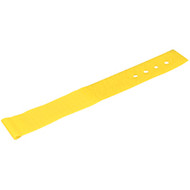 """Black Box Hook and Loop Lite Cable Wraps, 1"""" x 6"""", 10-Pack, Yellow FT9383"""