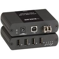 Black Box USB Ultimate Extender over Single-Mode Fiber, 4-Port IC406A