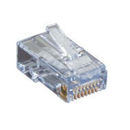 Black Box CAT6 EZ-RJ45 Modular Plugs, 25-Pack C6EZUP-25PAK
