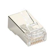 Black Box Black Box Connect CAT6 RJ-45 Modular Plugs - Shielded, 100-Pack C6-MP-S-100PAK