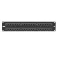 Black Box CAT5e Econo Patch Panel, 48-Port, 2U, Universal Wiring JPM113A-R5