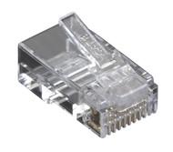 Black Box Black Box Connect CAT6 RJ-45 Modular Plugs - Unshielded, 100-Pack C6-MP-U-100PAK