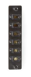 Black Box High-Density Adapter Panel, (6) MTP(R)-style MPO Connectors, Black JPM470